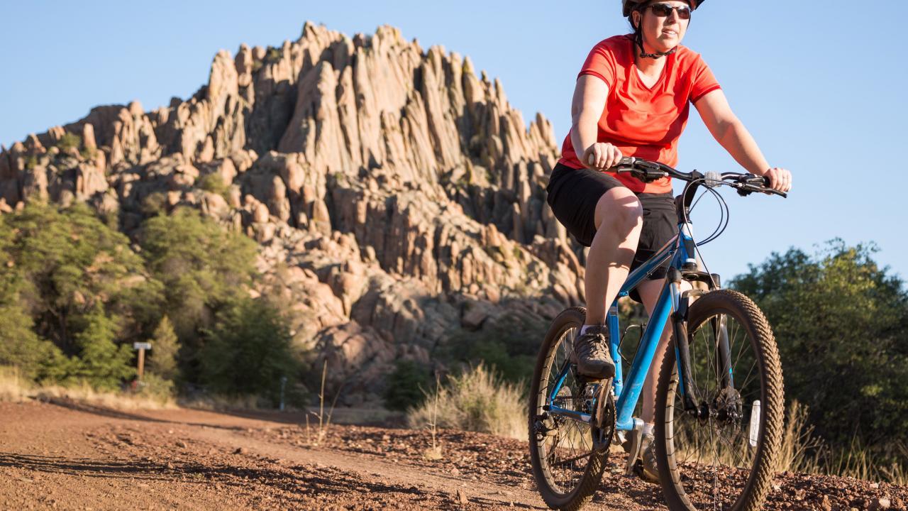 프레스콧에서 산악자전거 타기