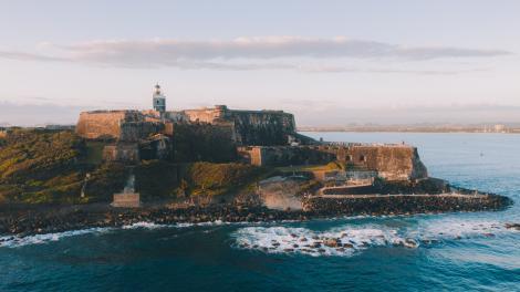 푸에르토리코 산후안의 카스티요 산 펠리페 델 모로