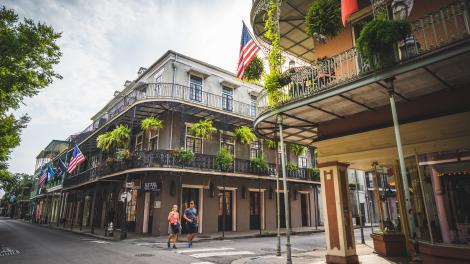 Strolling the French Quarter in New Orleans, Louisiana