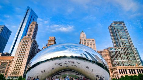 일리노이주 시카고의 클라우드 게이트 조각 작품