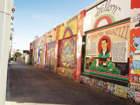 캘리포니아 주 샌프란시스코의 미션 디스트릭트 벽화