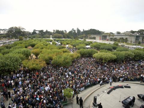 캘리포니아 주 샌프란시스코의 골든게이트 파크에서 개최되는 아웃사이드 랜드 뮤직 페스티벌