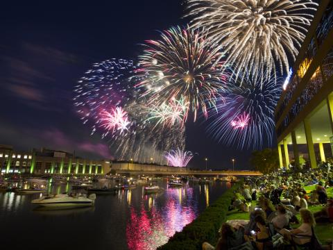 미국 독립기념일 불꽃놀이