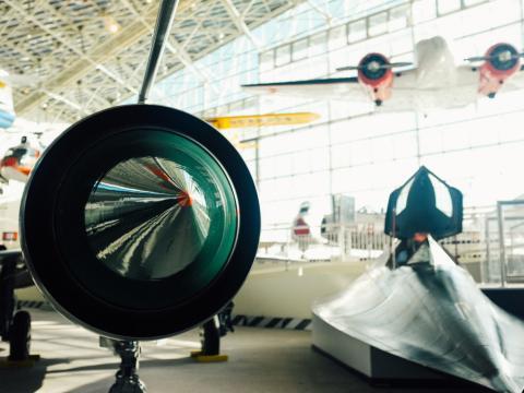 시애틀 박물관의 달에 촬영한 비행 박물관
