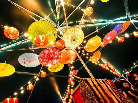 리틀록 자연숲 공원의 전등 예술 축제