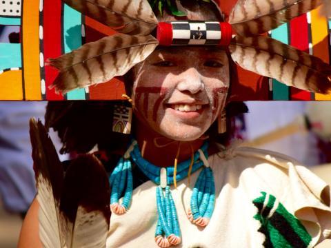 호피 축제의 소녀