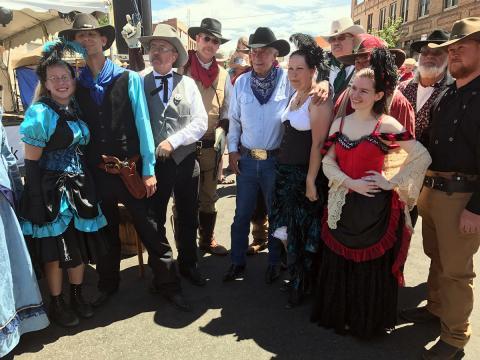 Costumed reenactors at Laramie Jubilee Days