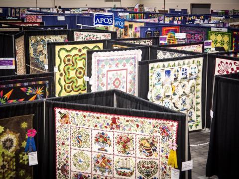 Quilts on display at Paducah's Fall AQS QuiltWeek