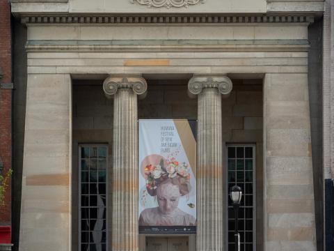켄터키주 루이빌의 휴매나 페스티벌 오브 뉴 아메리칸 플레이 공연 광고